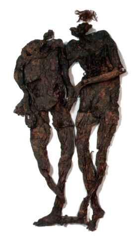 Twee andere beroemde Nederlandse veenlijken zijn samen 'het paar van Weerdinge', naar de plaats in Drenthe waar ze zijn gevonden. Het zijn de resten van twee mannen die tussen 200 en 400 na Christus in het veen zijn begraven. (Foto: Drents Museum)