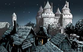 Het kasteel van Hattem. (Tekening: Kelvin Wilson)