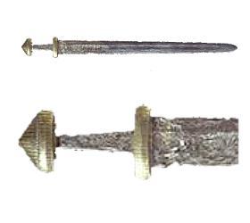 Dit ijzeren zwaard komt uit de Maas bij Lith. Het is gemaakt tussen 900 en 1000. Op de kling staat de naam VLFBERHT. Zwaarden met deze naam erop zijn vooral bekend uit de Scandinavische landen, maar of het vikingzwaarden zijn is niet zeker. (Foto: Rijksmuseum van Oudheden)