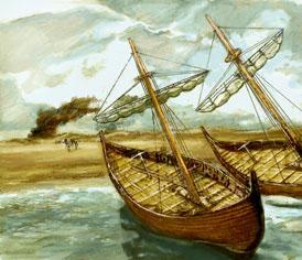 Vroege Middeleeuwen, tekening: Kevin Wilson